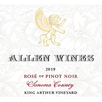 Sonoma County Rosé of Pinot King Arthur Vineyard